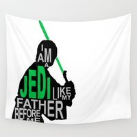 jedi Wall Tapestries featuring I Am A Jedi by Hugh & West