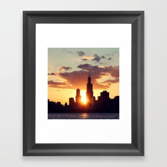Chi Sky Framed Art Print