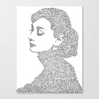 audrey hepburn Canvas Prints featuring Audrey Hepburn by S. L. Fina