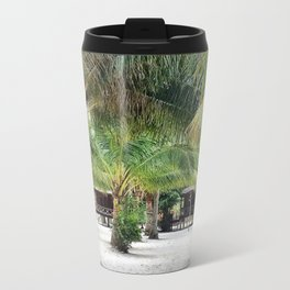 Bungalows on Palm Beach Metal Travel Mug