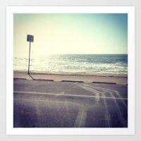 To The Beach Art Print