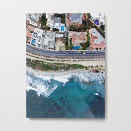 Aerial Costal Road Metal Print