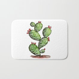 Psalm 63 watercoulor cactus bible verse Bath Mat
