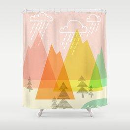 Raindrop Valley Shower Curtain