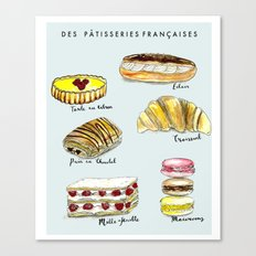 Des Pattisseries Francais Canvas Print