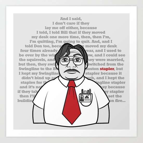 Milton's Monologue Art Print