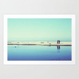 The Beach (California Dreaming III landscape) Art Print