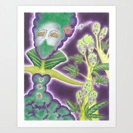 Meditative Mama Series~ Phantom~ Art Print