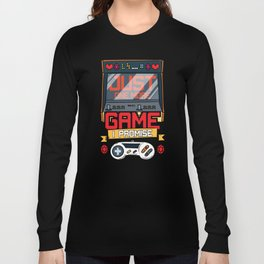 Just One More Game Funny Gaming Gamer Tee Gift Fun Long Sleeve T-shirt