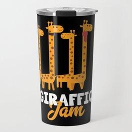 Giraffe Cartoon Funny Animals Gift Travel Mug