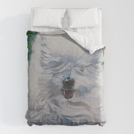 The Coton de Tuléar dog art from an original painting by L.A.Shepard Comforters