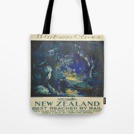 Vintage poster - Waitomo Caves Tote Bag