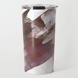 Wine brown abstract Travel Mug