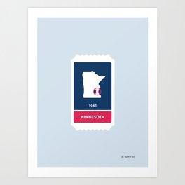 Minnesota Baseball Ticket (13 of 30) Art Print
