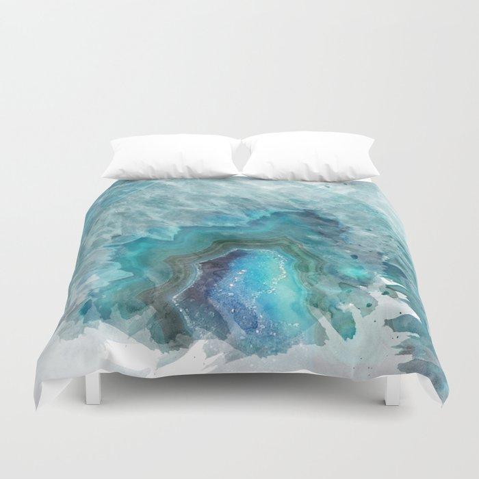 Blue Aqua Agate Bettbezug