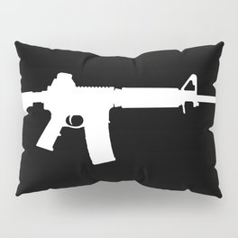 AR-15 (on black) Pillow Sham