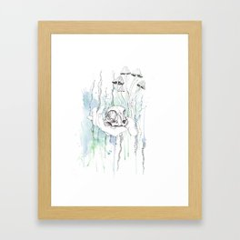 Cat Skull Framed Art Print