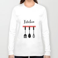 kitchen Long Sleeve T-shirts featuring Kitchen by Sahar