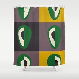 Avocado print Shower Curtain