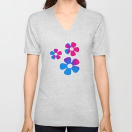 Puff of colors Unisex V-Neck