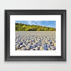 Pebbles, Trees & Sky Framed Art Print