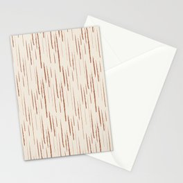 Cavern Clay SW 7701 Grunge Vertical Stripes on Creamy Off White SW7012 Stationery Cards