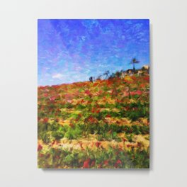 Atop the Flower Fields - Help fund educations for improvished kids in Malawi Africa MoreThanAid Metal Print