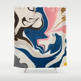Soft Pastel Marble Shower Curtain