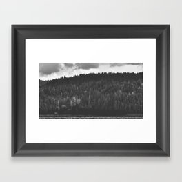 Lake Cushman Framed Art Print