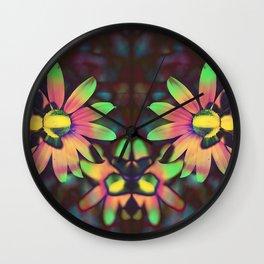 Daisy Acid Wall Clock