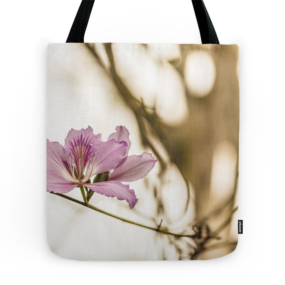 Pink Flower Tote Purse by lumelo (TBG7182897) photo