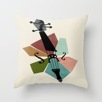 cello Throw Pillows featuring Bach - Cello Suites by Prelude Posters