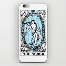 Modern Tarot Design - 21 The World iPhone Skin