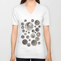 planets V-neck T-shirts featuring Planets by Dreamy Me