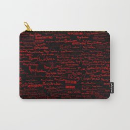 Merry Christmas, red on black Carry-All Pouch