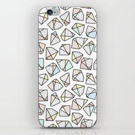 Polygonal stones and gemstones iPhone Skin