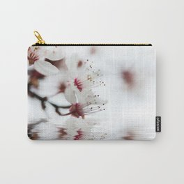 white cherry blossom and water reflection Carry-All Pouch