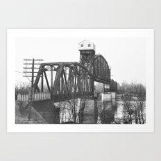 Railroad Bridge Over the Missouri River II Art Print