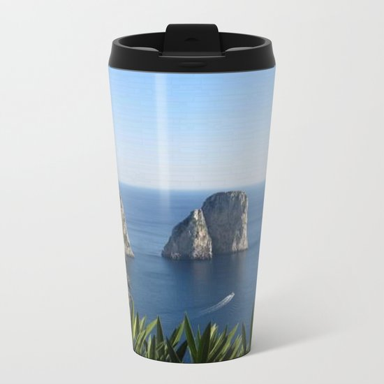 I Faraglioni di Capri Metal Travel Mug
