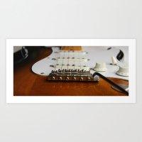 Electric Guitar close up  Art Print