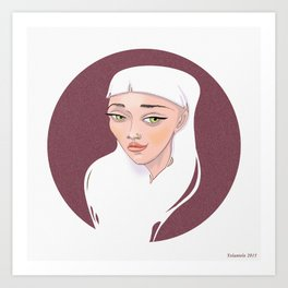 MOON Girl Art Print