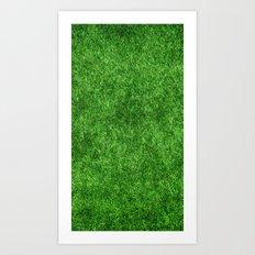 Green Grass Background Art Print