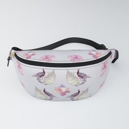 ornament with birds and flowers Fanny Pack