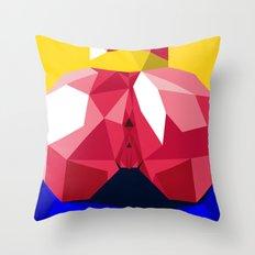 Yellow Ass Blue Throw Pillow