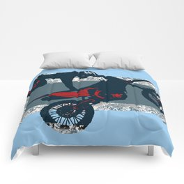 Flying Freestyle Moto-x Champ Comforters