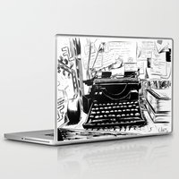 shakespeare Laptop & iPad Skins featuring Shakespeare and Company by Chris Hunt