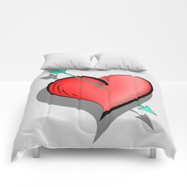 Heart and arrow, a touch of romance Comforters