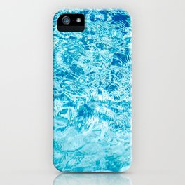 Crystal blue water creating an abstract pattern with waves and ripples iPhone Case