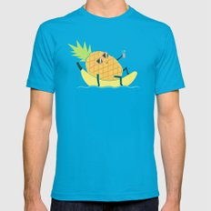 Summer Chillin X-LARGE Mens Fitted Tee Teal