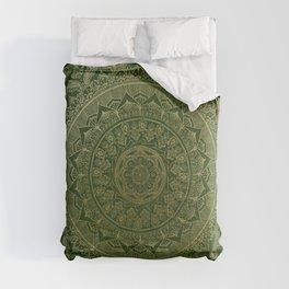 Mandala Royal - Green and Gold Comforters